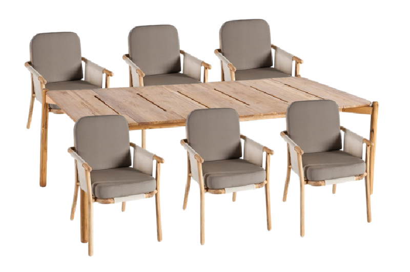 Hamp Outdoor Dining Table and Chairs