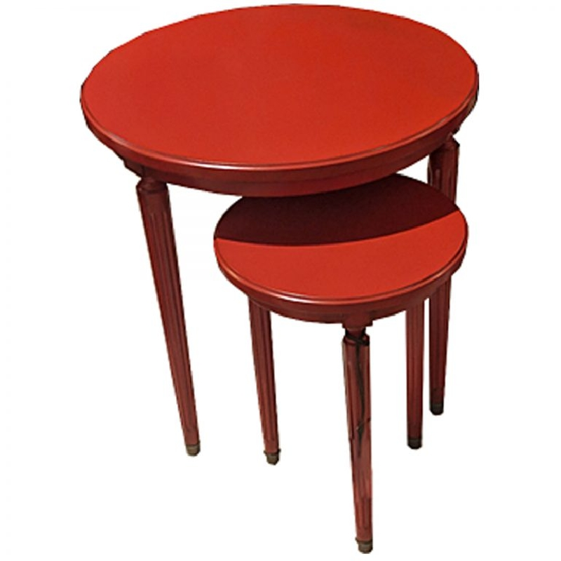 Ermitage Nest of Tables Rouge
