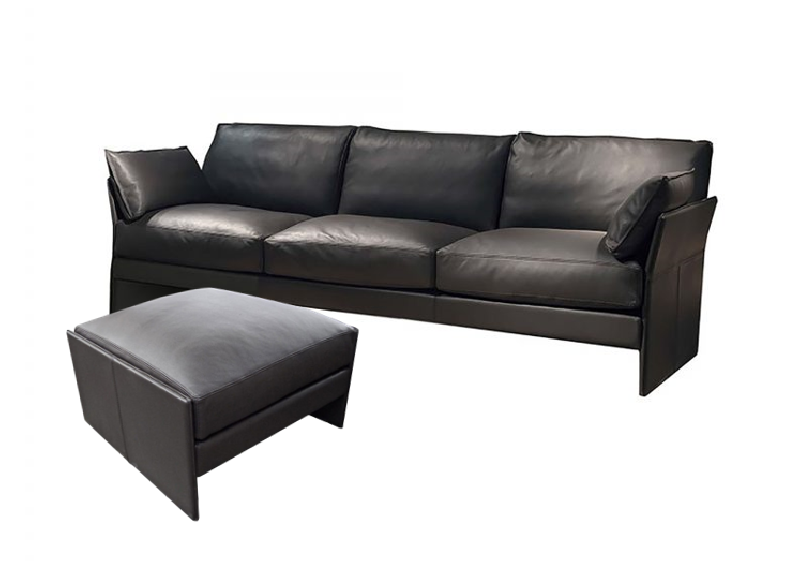 Faubourg 3 Seater Sofa and Ottoman