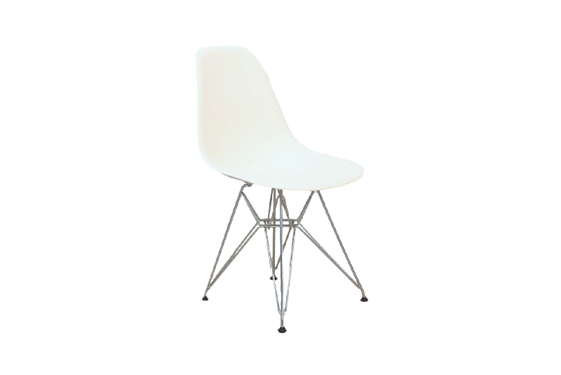 Moulded Plastic Side Chair DSR White