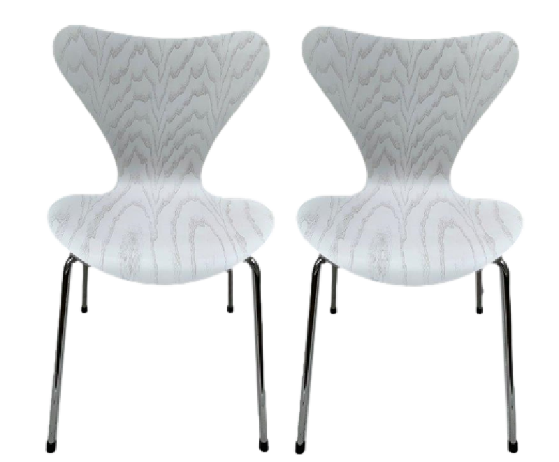 Pair of Series 7 White Ash Chairs