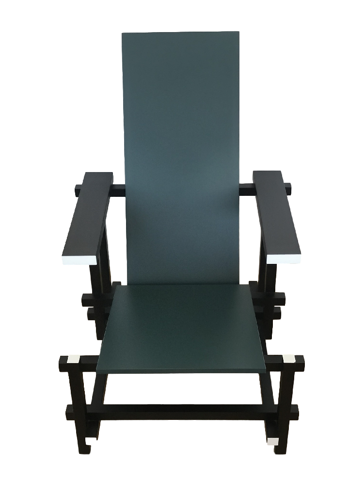 Limited Edition 635 Chair in Black, Green & White
