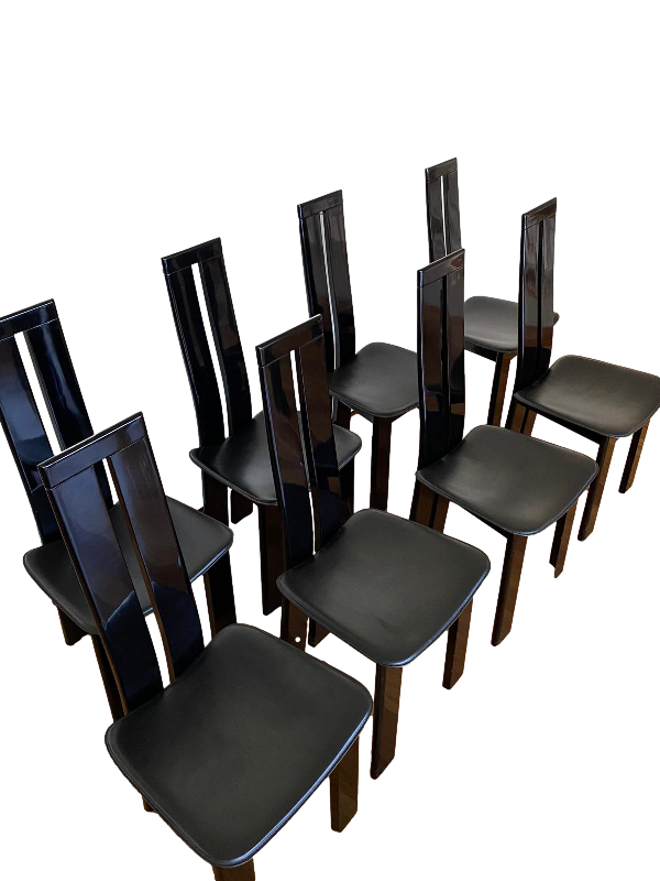 Eight Vintage Dining Chairs