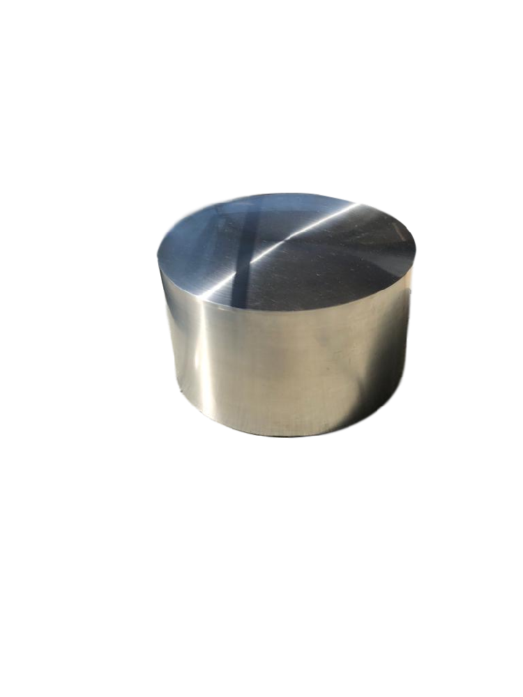 Silver Round Drum Side Table